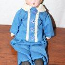 "Vintage Minerva Tin Head Doll Small 10"" Cloth Body"