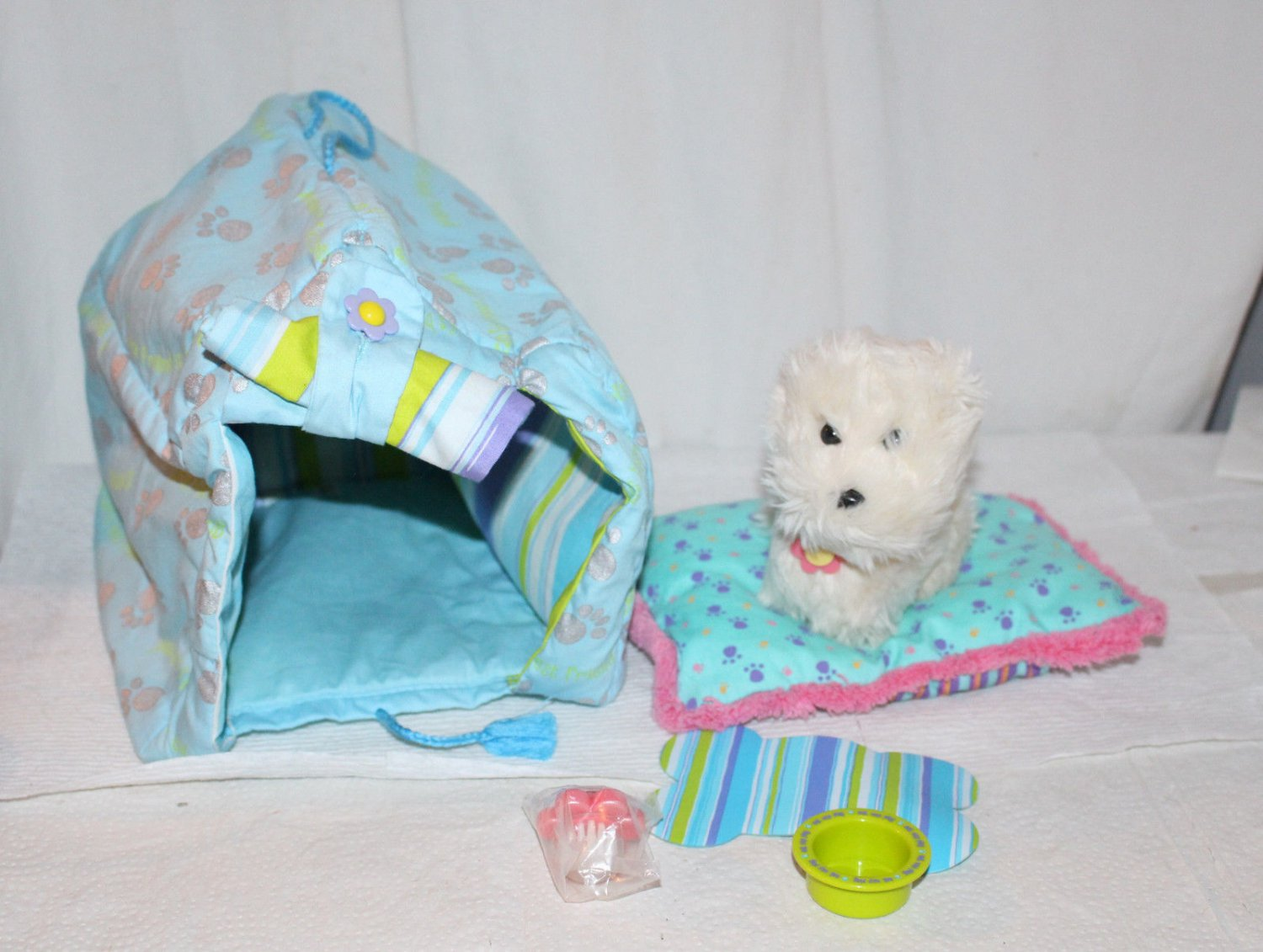 AMERICAN GIRL DOG SPA HOUSE AND ACCESSORIES COCONUT