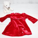 AMERICAN GIRL RED VELVET HOLIDAY DRESS WITH WHITE BEAR