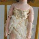 "Vintage Uneeda 2S Dollikin Jointed Ballerina Doll 19"" tall Brunette Upsweep"