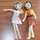 "2 Vintage Wide Eyed Dolls 10"" Japan Mod Era Wire Bendable Bodies"