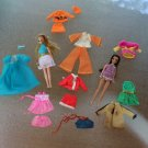 Lot of Vintage Topper Dawn Clothes + 2 Dolls HT Orange 2 with Belt & Hat