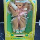 """Vintage Horsman Tynie Doll Unused in Box 11"""" Drinks, Wets Sleep Eyes + Bottle"""