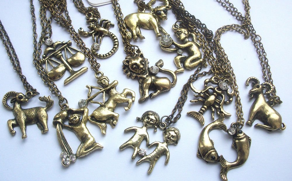 Astrology Zodiac Sign Horoscope Pendant Necklace
