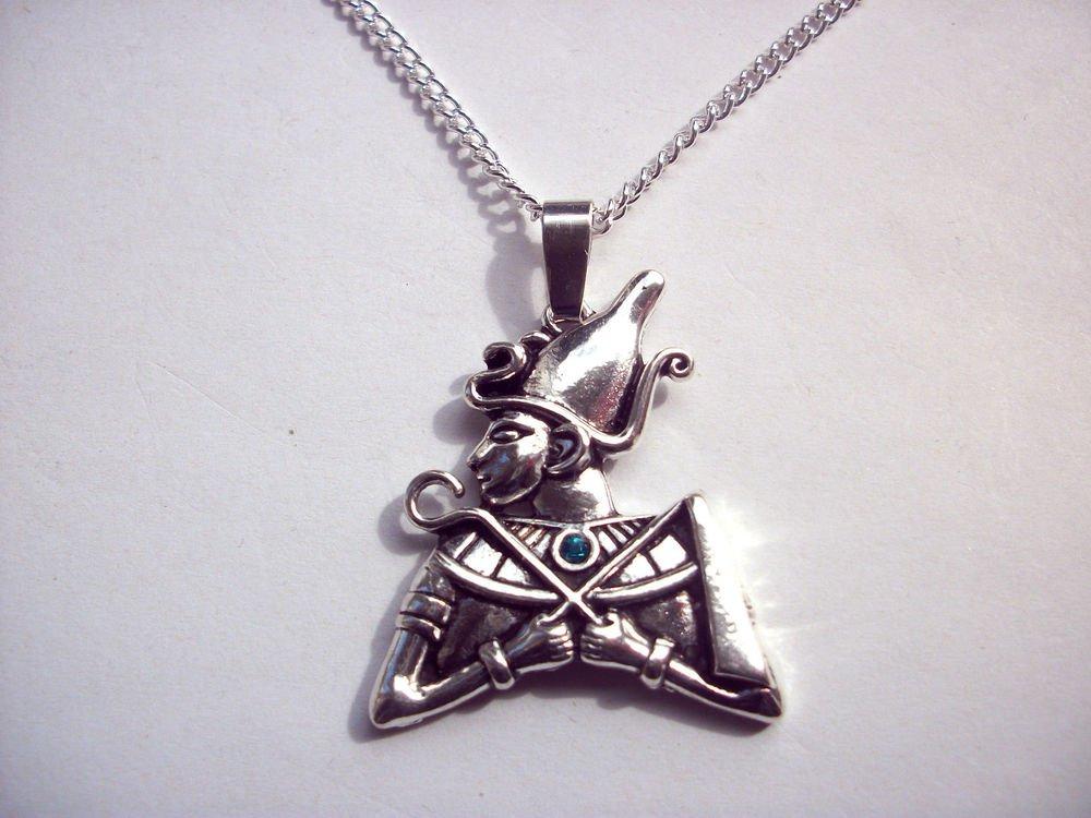 Egyptian God Osiris Pendant Necklace