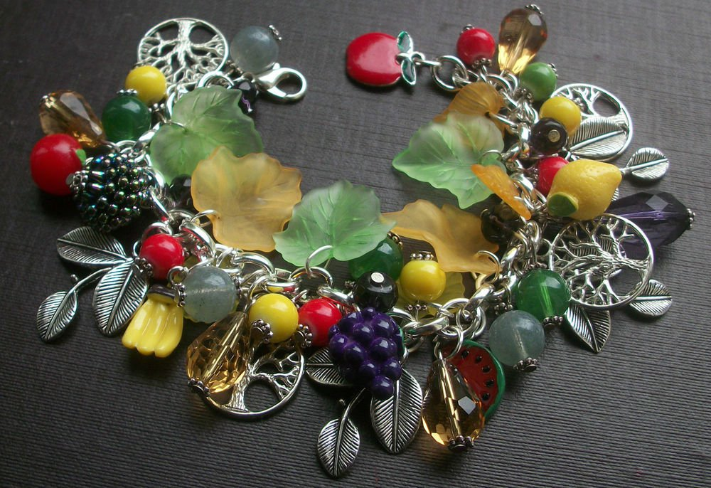 Tutti Fuitti Colourful Fruit Charm Bracelet