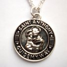 St Anthony Guide My Way Pendant Necklace