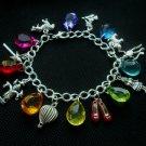Wizard of Oz Rainbow Charm Bracelet