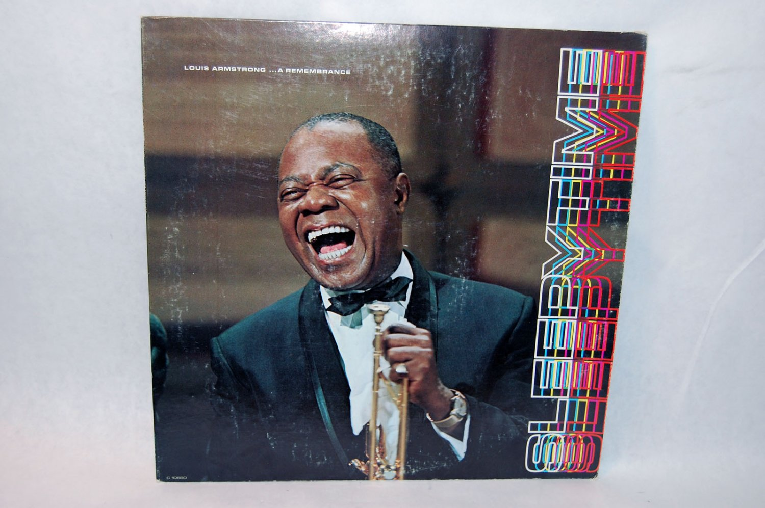"""LOUIS ARMSTRONG Sleepytime 12"""" Vinyl LP Columbia Sponsored by Placidyl"""