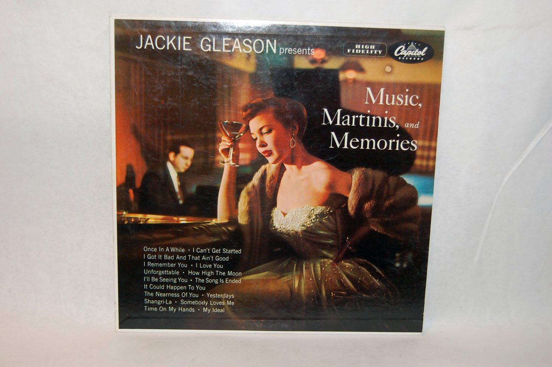 "JACKIE GLEASON PRESENTS Music, Martinis, and Memories 12"" Vinyl LP Capitol"