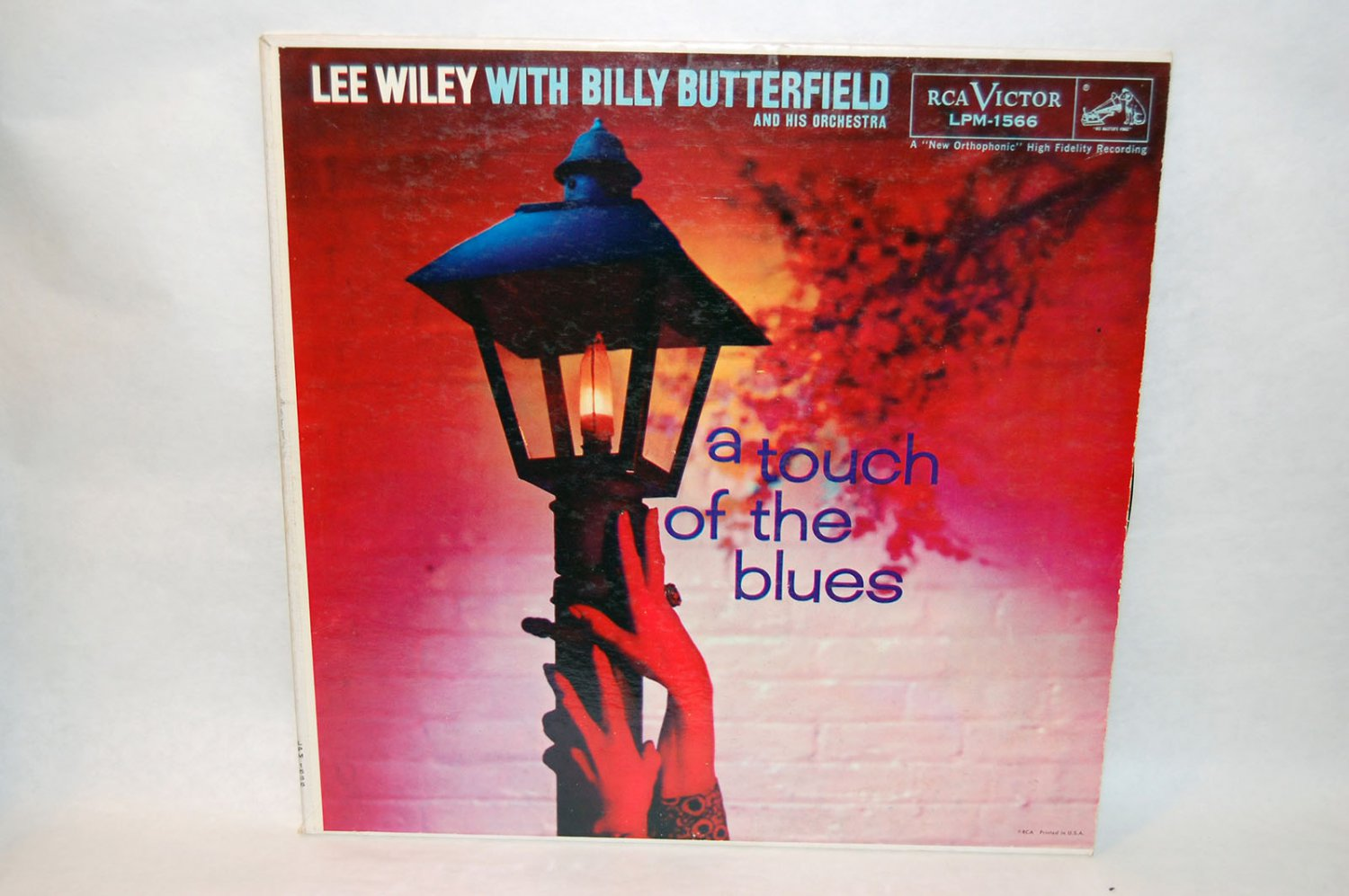 "LEE WILEY WITH BILLY BUTTERFIELD A Touch Of The Blues 12"" Vinyl LP RCA"