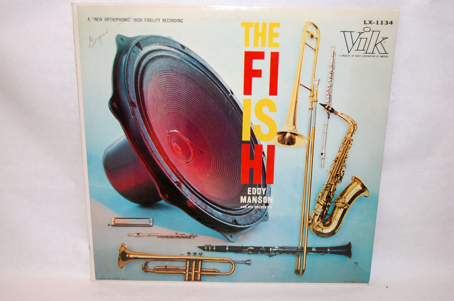 "EDDY MANSON & ORCHESTRA The Fi Is Hi 12"" Vinyl LP Vik"