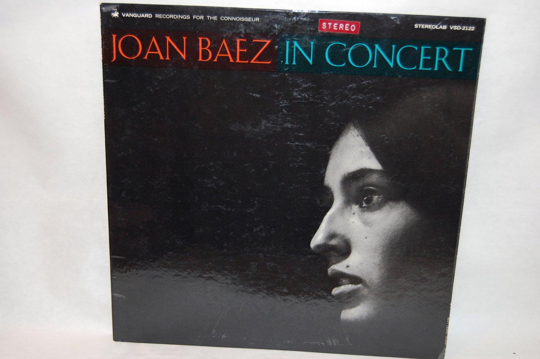 """JOAN BAEZ In Concert 12"""" Vinyl LP Vanguard"""