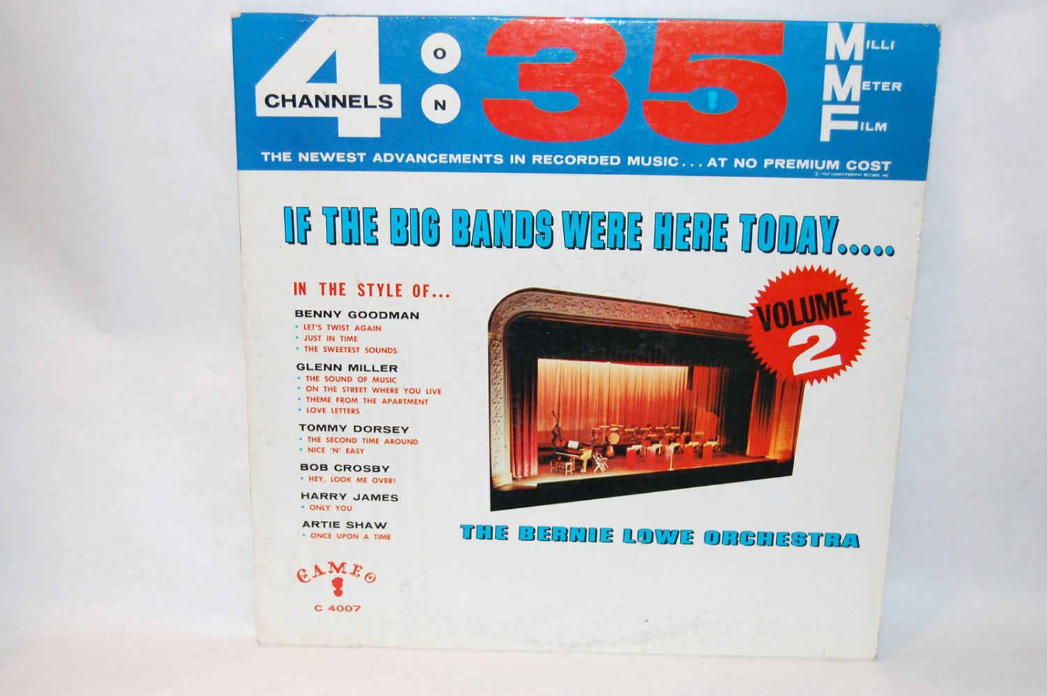 "THE BERNIE LOWE ORCHESTRA If The Big Bands Were Here Today 12"" Vinyl LP Cameo C-4007"