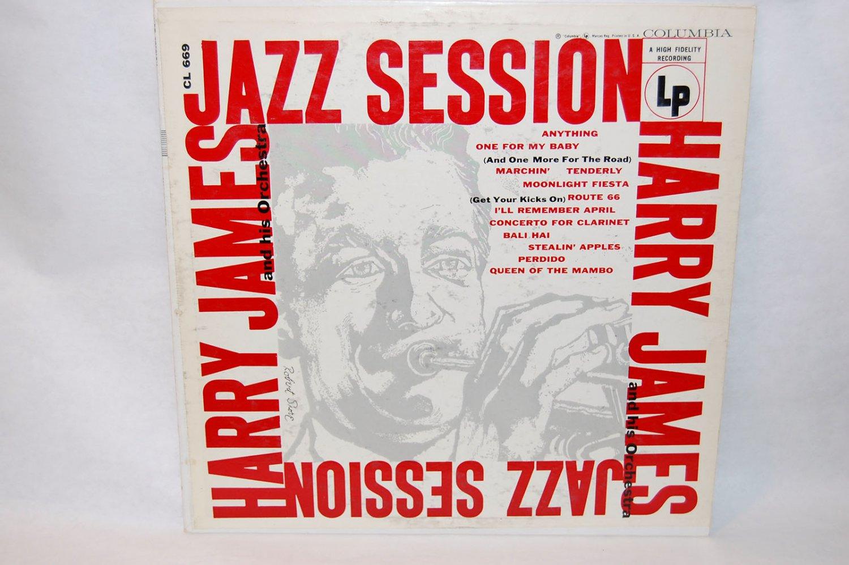 "HARRY JAMES Jazz Sessions 12"" Vinyl LP Columbia CL-669"
