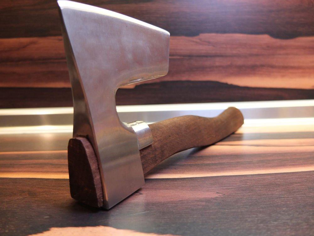 � STAINLESS STEEL BEARDED AXE / HATCHET METAL GUARD  CUSTOM MADE HANDLE