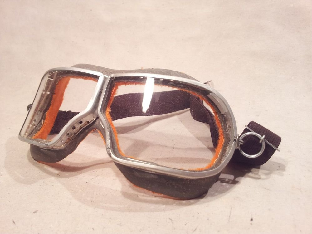 � SOVIET RUSSIAN USSR DUST GLASSES FIELD GOGGLES PILOT MOTORCYCLE WW2