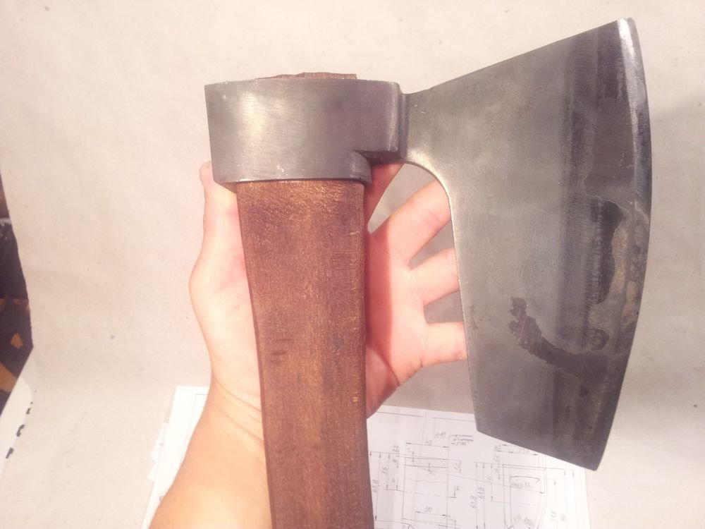� HEWING GOOSEWING BEARDED BROAD AXE - VIKING STYLE- GREEN WOODWORKING TOOL