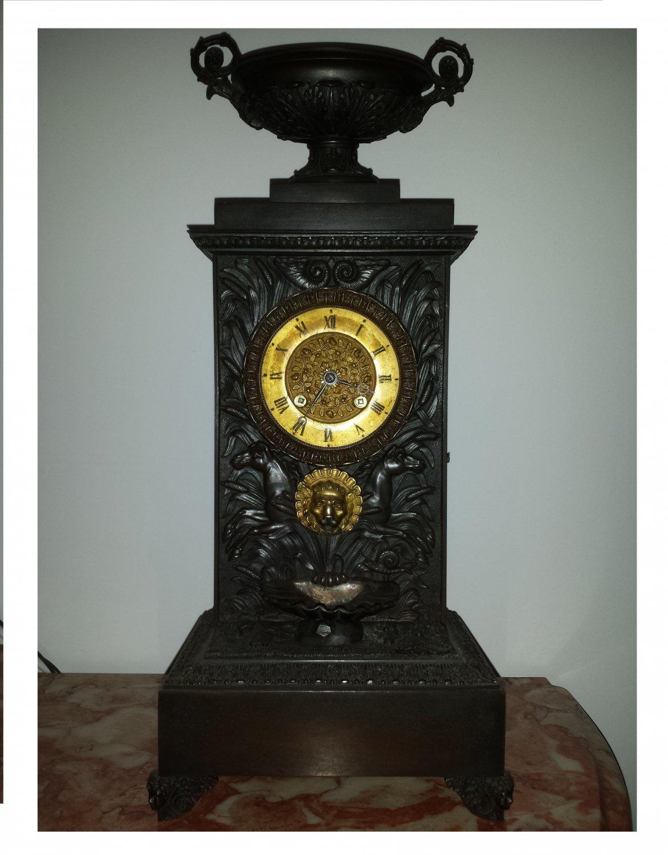French Bronze Empire clock