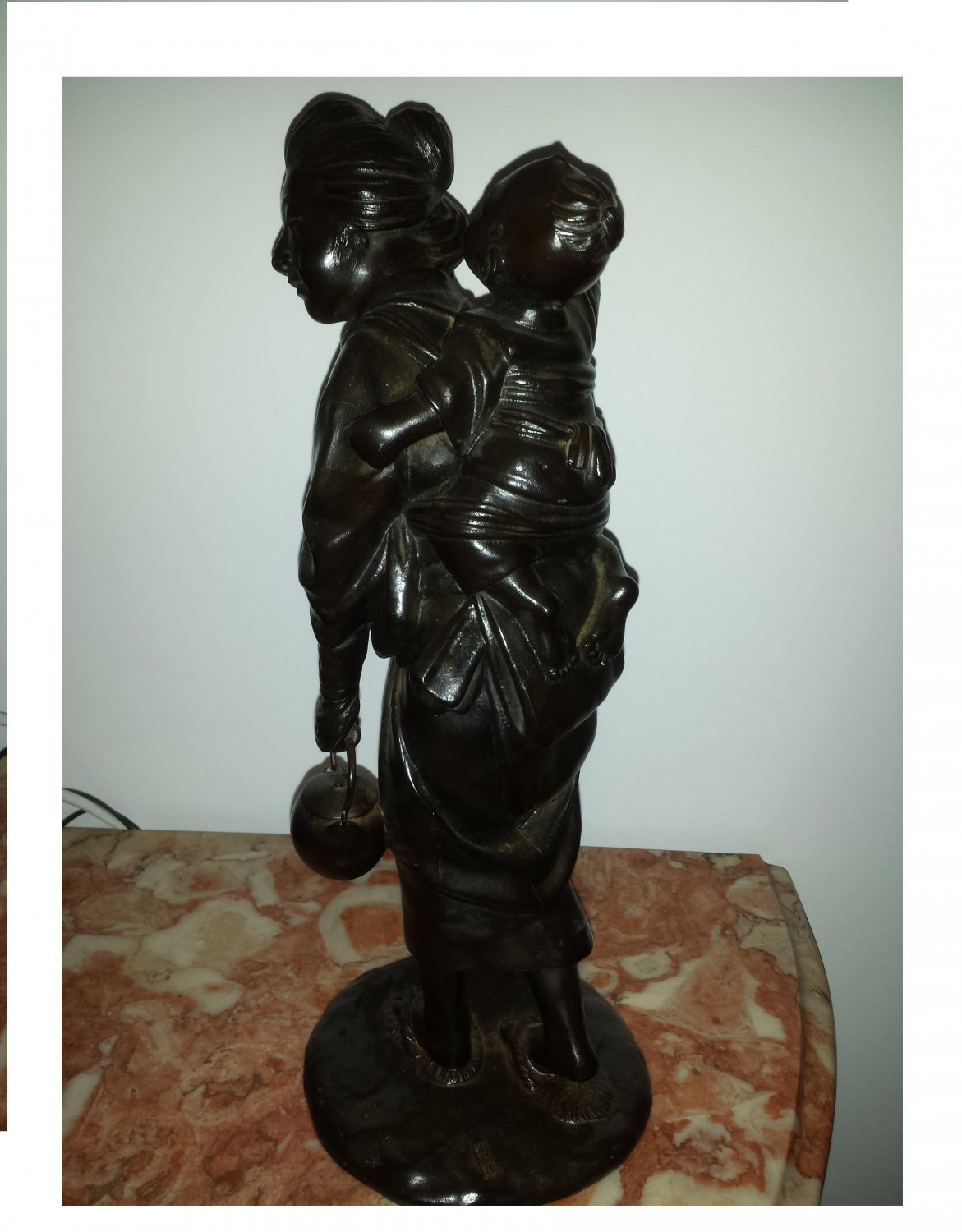 French Bronze Japanese Statue