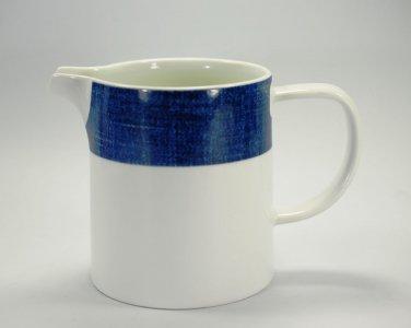 Studio Nova Jug Pitcher Blue Denim Pattern White Porcelain  Y0725 FAB