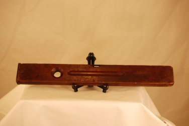 """Stanley Rule Level Co 24"""" Brass Wood Carpenter Tool Antique Vintage 1890 USA FAB"""