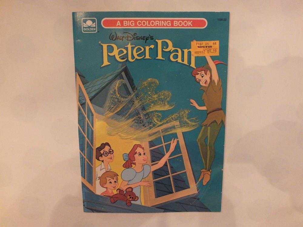 Unused Vintage Golden Coloring Book Disney's Peter Pan