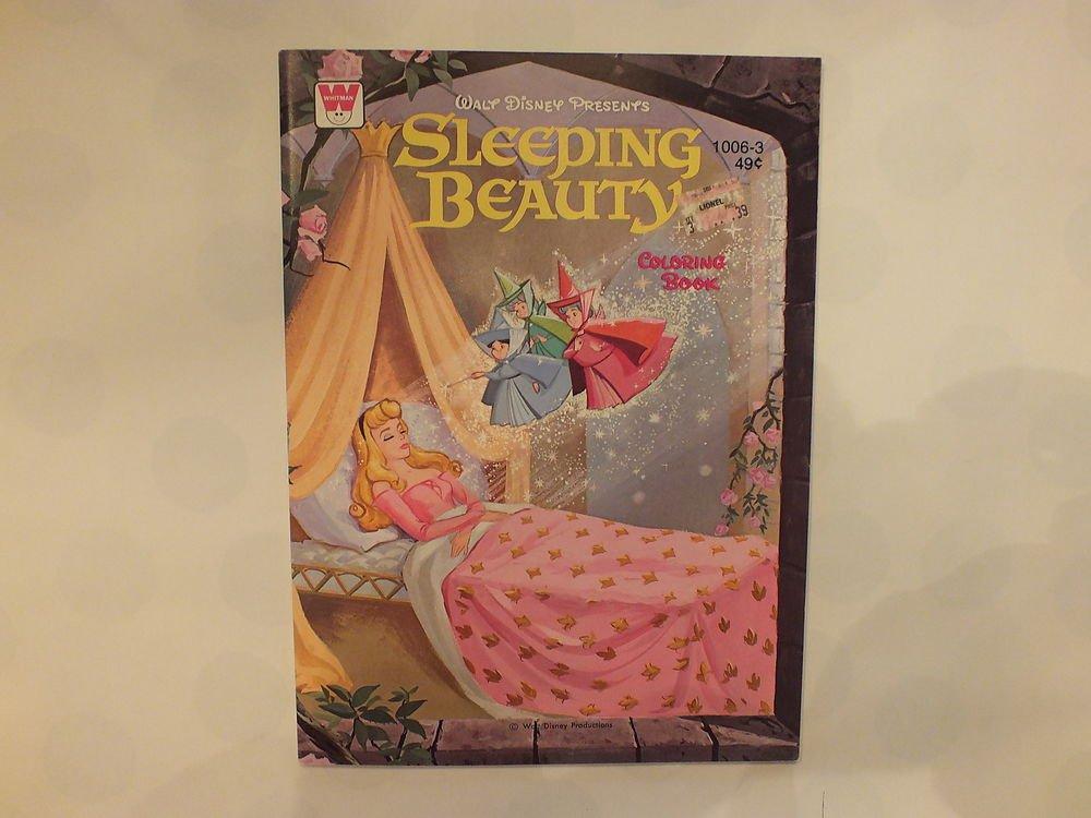 Unused Vintage Whitman Coloring Book Disney's Sleeping Beauty