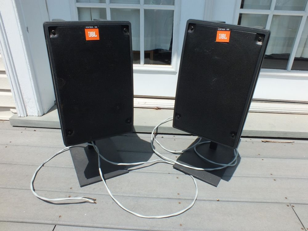 JBL Control 8SR Studio Monitory Speaker Pair w/ Stands