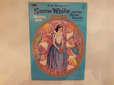 Unused Vintage Whitman Coloring Book Disney's Snow White