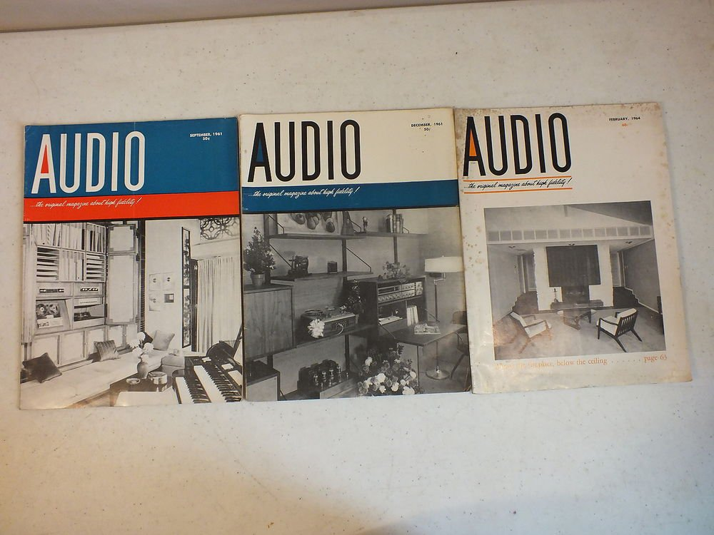 Vintage Audio Magazines 7 Issues 1960s