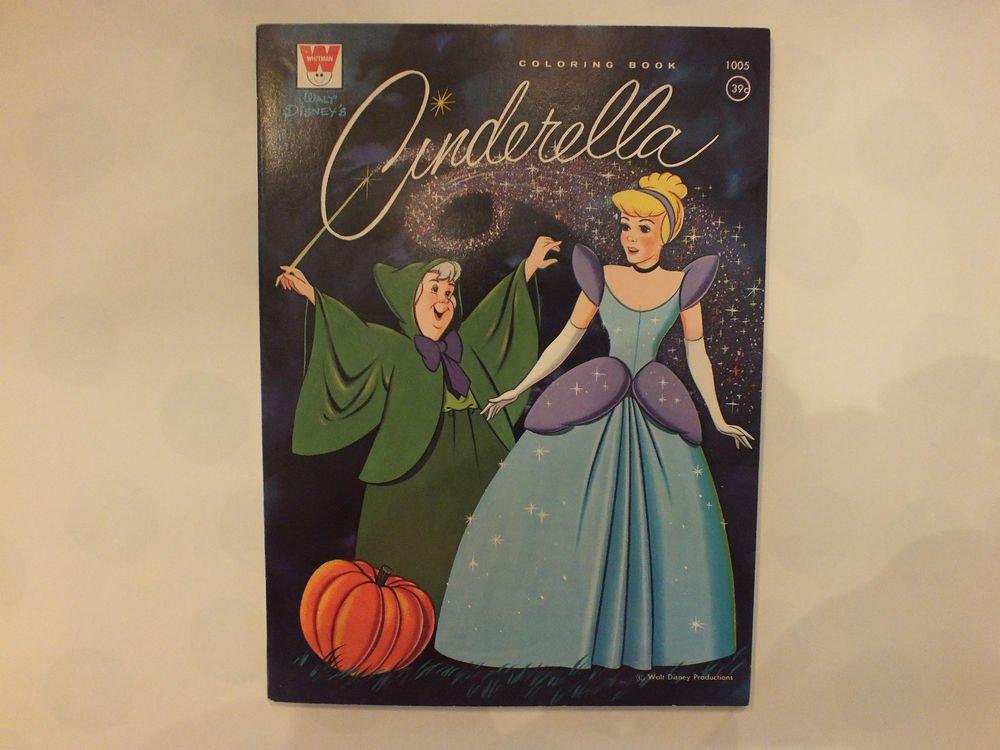 Unused Vintage Whitman Coloring Book Disney's Cinderella