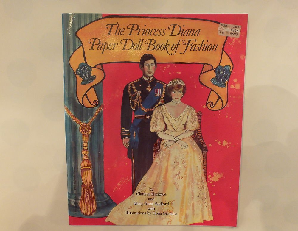 Unused Vintage Paper Doll Book The Princess Diana Book of Fashion