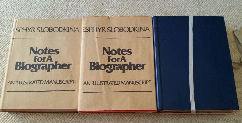 Rare limited signed Esphyr Slobodkina books 3 vol set Notes for a Biographer