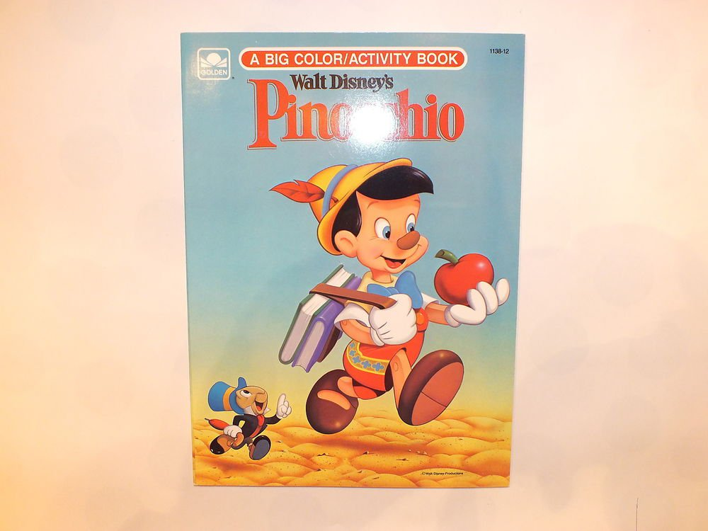 Unused Vintage Golden Coloring Book Disney's  Pinocchio