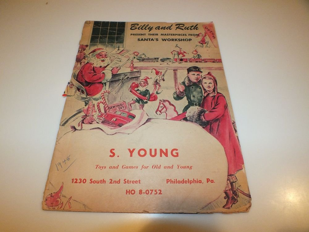 Vintage Christmas Toy Catalog Billy and Ruth 1948 Hubley Buddy L Structo & more