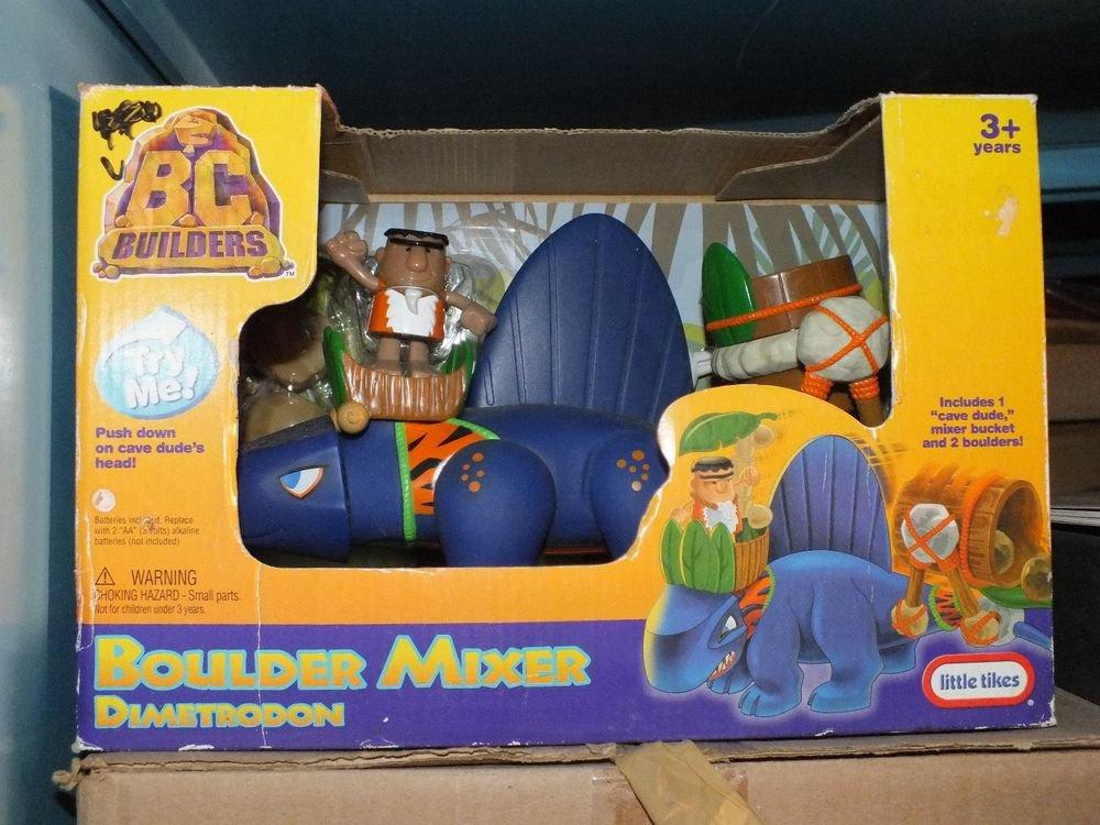 NEW Little Tikes BC Builders Boulder Mixer & Dimetrodon Purple Roaring Dinosaur