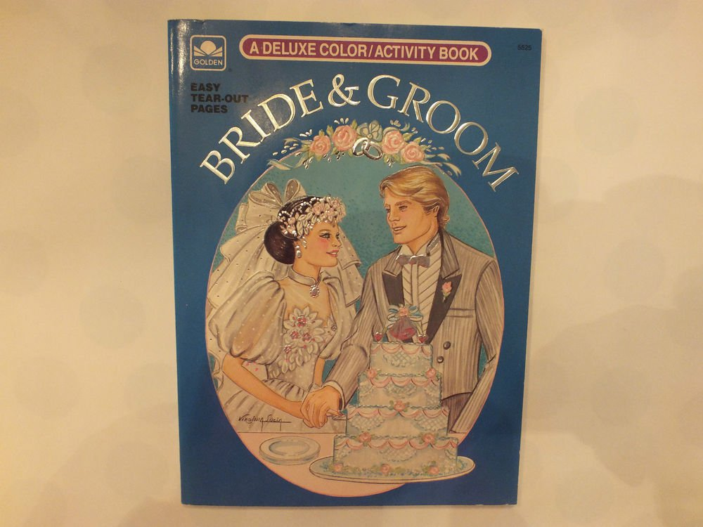 Unused Vintage Golden Book Bride and Groom Easy Tear Out Pages