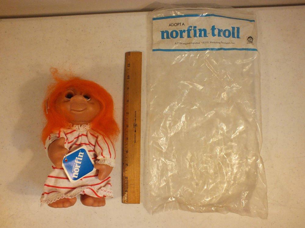 """Norfin Dam Troll 10"""" Orange Lil Nighty w/ tag"""
