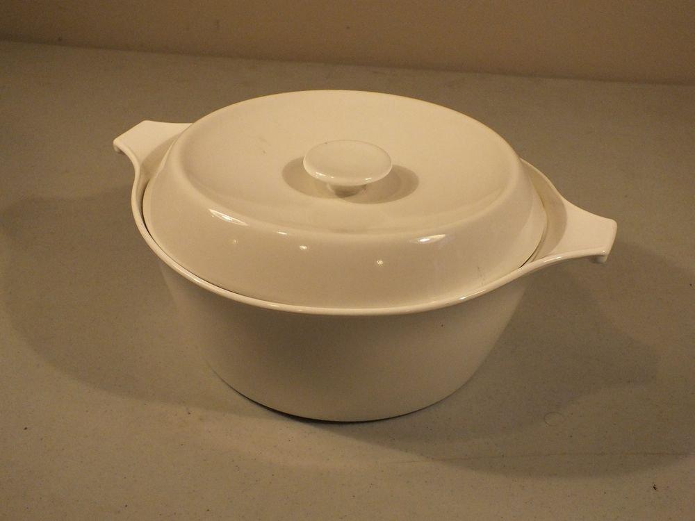 Corning Centura White Coupe 2 Quart Covered Saucepan Cook & Serve