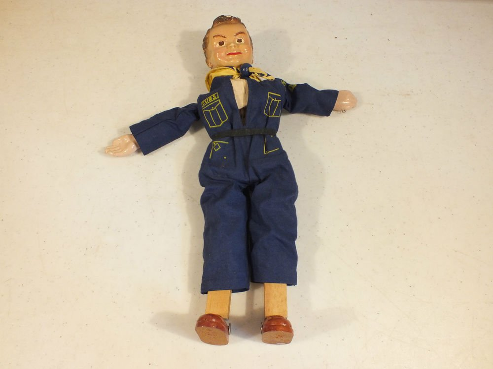 VINTAGE OFFICIAL CUB SCOUT MARIONETTE BOYS SCOUTS OF AMERICA