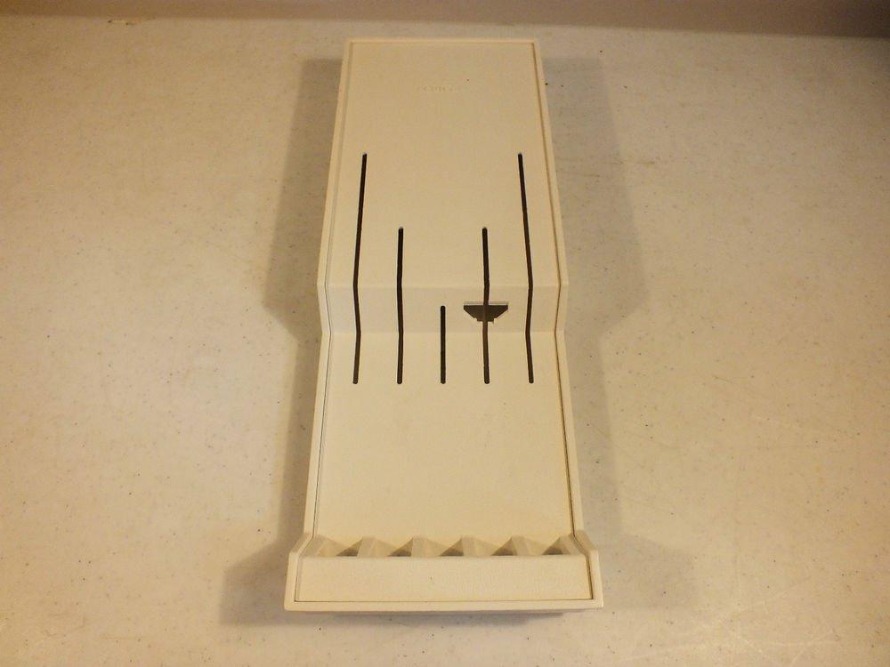 Cutco 1742 Plastic Knife Holder Wall Mountable Drawer White