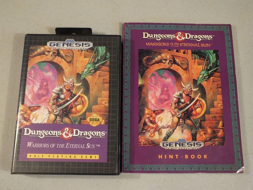 SEGA Genesis Dungeons & Dragons: Warriors of the Eternal w/ hint book