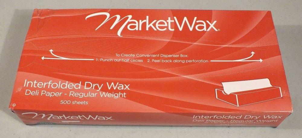 """MarketWax MW12 Interfolded Dry Wax Deli Paper REGULAR Wght 12""""x10.75"""" 500 SHEET"""