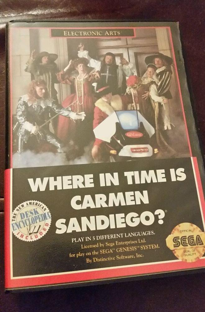 WHERE IN TIME IS CARMEN SANDIEGO? - Sega Genesis Game