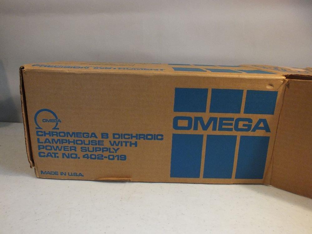 chromega dichroic b lamphouse + power supply 402-019 hardly used w/ box paper