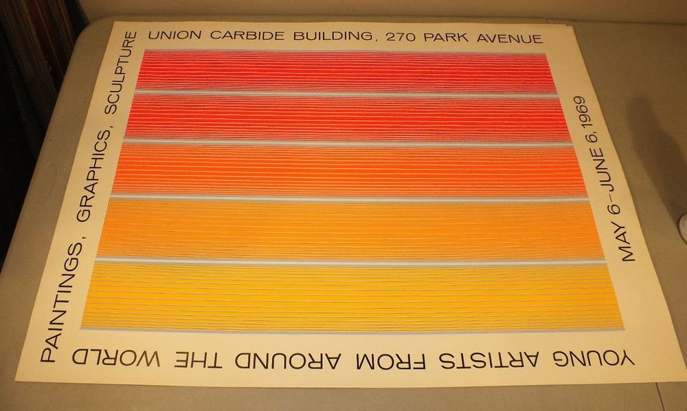 Richard Anuszkiewicz Silkscreen Poster Union Carbide Young Artists 1969