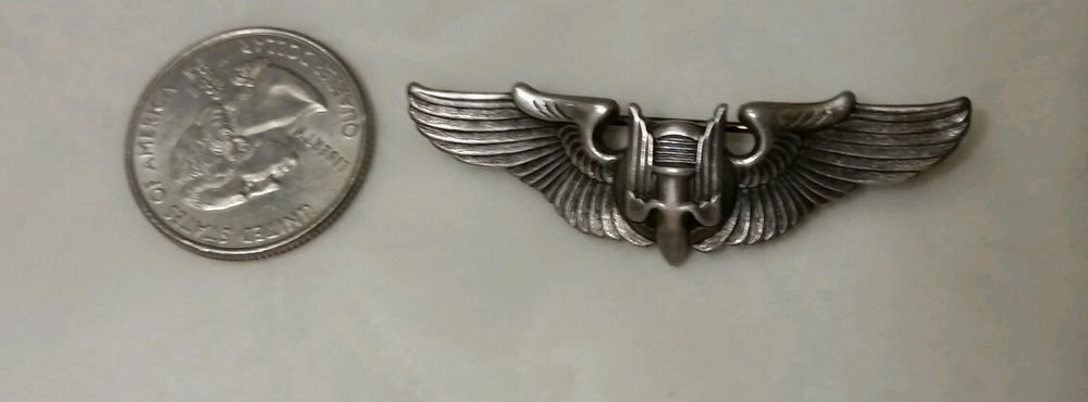 WWII Air Force Sterling Pin Gunner