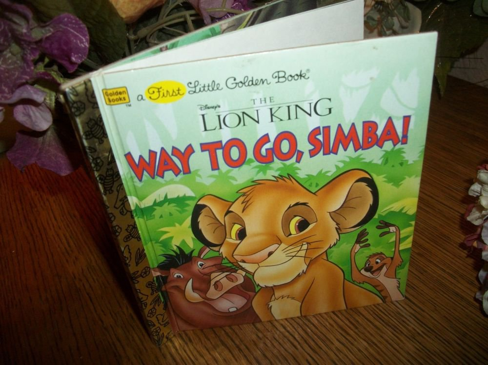 Disney's Lion King Way To Go Simba Little Golden Book Picture Story for Children