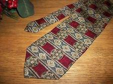 Arden Cravats Italian Silk Tie Red Blue Gold Necktie USA Made Mens VTG Fashion